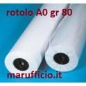 CARTA PLOTTER A0 GR. 80 mm 914x50 mt