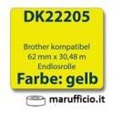 ROTOLO ETICHETTE DK-22205 GIALLO