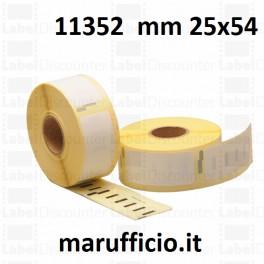 ETICHETTE DYMO 11352 25x54 COMPATIBILI