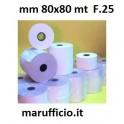 ROTOLO CARTA TERMICA PER STAMPANTI mm 80x80 mt