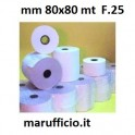 ROTOLO CARTA TERMICA mm 80x80 mt D.25
