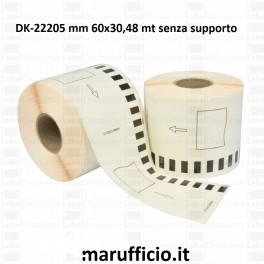 ROTOLO ETICHETTE DK-22205 SENZA SUPPORTO